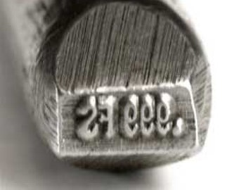 999 FINE SILVER Stamp - 3/4mm - For Stamping Fine Silver Jewelry - Jewelry Making Tool