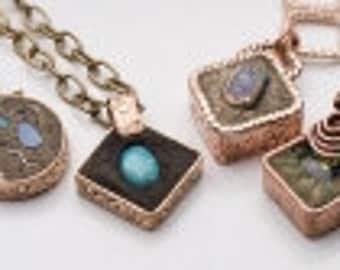 Encapture Artisan Concrete Kit - Make beautiful Artisan Concrete Jewelry - Jewelry Making Kit