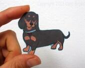 Daschund Dog Car Window Sticker, Vinyl iPhone Decal waterproof durable indoor/outdoor