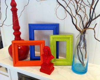 Upcycled vintage mirror in lime funky home decor by fefifofun for Funky decor for home