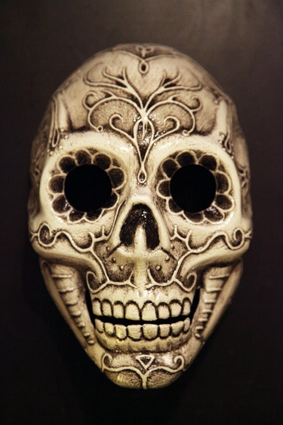 What Is Rubber Made Of >> Sugar Skull Mask by FAUSTandCOMPANY on Etsy