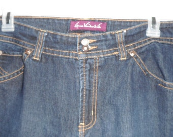 90s GLORIA VANDERBILT JEANS....sz. 16 ..dark blue .. Like New Pants Denim Large 36 Waist Large Women