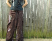 Brown & Floral Gypsy Pants  **Price reduction!**