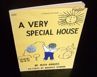 Vintage Children's Book - A Very Special House - 1990 Sendak