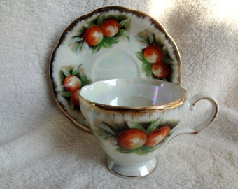 Vintage Japan Lusterware Fruit Cup and Saucer