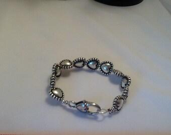 Bracelet, Silver plated Hearts