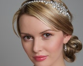 Bridal Hair Accessories - Wedding Headband / Side Tiara / Wedding Tiara - Silver Diamante (Rhinestone) Bridal, Wedding