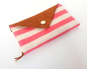 Signature Wallet in Pink Stripes