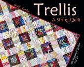 """Trellis Quilt Pattern, Easy Quilt, String Quilt, Scrap Quilt, PDF Quilt Pattern, 44"""" x 44,""""  qtm"""