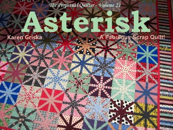 Asterisk Quilt Pattern, Easy Quilt Pattern, Unique Quilt, Modern, Retro, Versatile, PDF, qtm