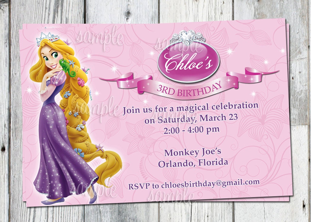 Tangled Birthday Invitations