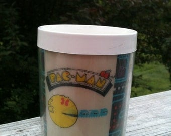 Pacman plastic thermal cup from the 1980s