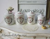 Paris Cottage Canisters for Dollhouse 1/12 Scale