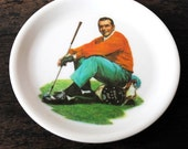 Vintage Golf Memorabilia Wilson Mini Plate, Fathers Day Golfer Man Cave 1960s Promotional Advertising