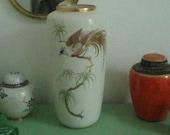 Vintage Vase from Alka Bavaria Art - Handpainted - Porcelain - Gold- Paradies Bird