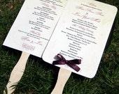 Set of 40 Scrolls Paddle Fan Wedding Program - Choose Your Design or Custom Design