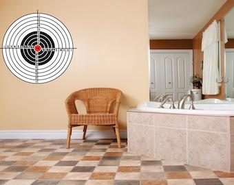 Shooting Range Target Rifle Shotgun Gun Equipment Kids Bedroom Teen Boy Wall Decal Home Decor Image Picture Art Mural 30x30 larg525