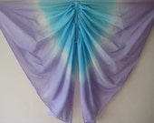 Butterfly Wings Costume, Purple and Aqua Pure Silk Fairy Wings