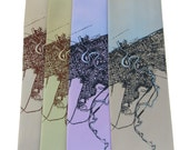 Cleveland 1904 Map (Halftone Lake) Neckties - on Champagne, Celery, Lavender, or White