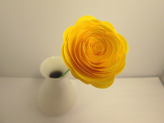 Paper Flowers // Custom Handmade Paper Roses Yellow