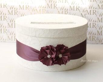 Laced Wedding Card Box, Wishing Well, Envelop Box - Custom Card Box