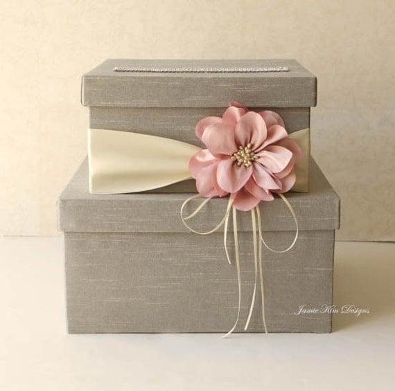 Wedding Gift Card Containers : Wedding Card Box Wedding Money Box Gift Card Box - Custom Made