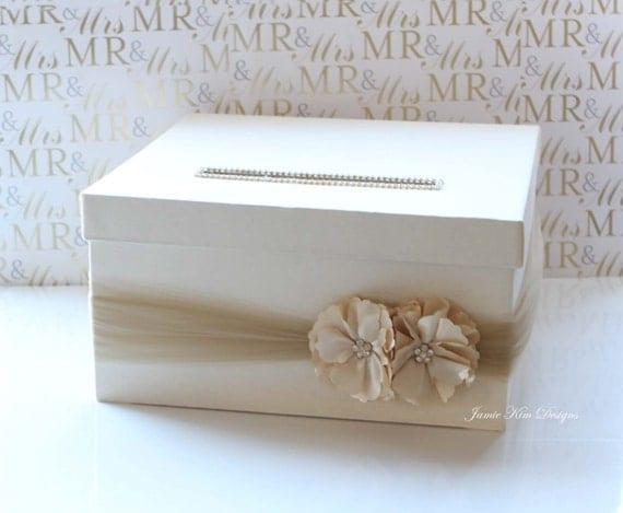 Wedding Gift Card Or Cash : Wedding Card Money Box Gift Card Holder- (Choose your own box & flower ...