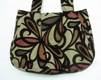 Hippie Bohemian Bag Purse Floral Cut Velvet