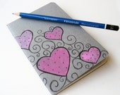 Moleskine Illustrated Small - pink hearts