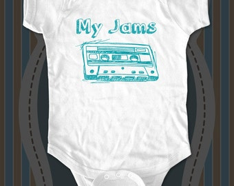 My Jams Mix Cassette Tape baby One-piece or tee - printed on Infant Baby One-piece, Infant Tee, Toddler T-Shirt