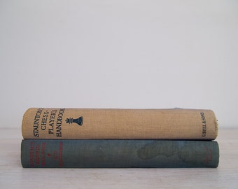 vintage 1942 chess-players handbook and contract bridge book