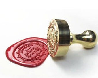 DHL (2 Days) - Custom made Wax Seal Stamp, any design, all brass