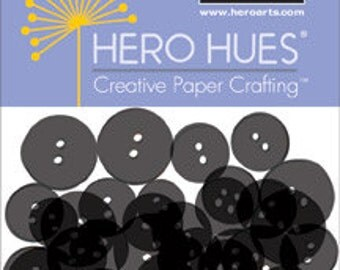 SALE Hero Arts Black Buttons CH263