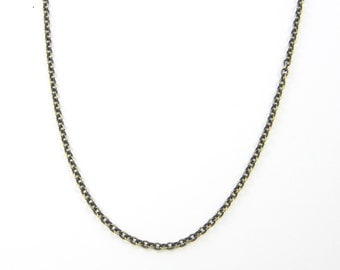 Brass Chain Necklace - 18 Inch Small Link 2.1mm Cable Necklace Chain |CH1-AB18