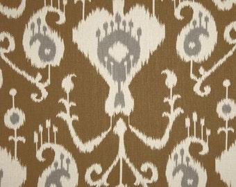 IKAT CURTAINS - Magnolia Home Fashions Java Ikat Umber - 50x84 -Window Treatment - Drapes Panels