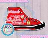 026 converse shoe shaped invitations CUSTOM made digital PRINTABLE file invitation sweet 16 15 quinceañera birthday party
