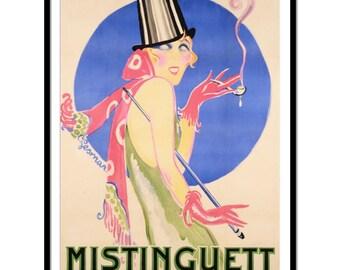 Vintage poster - Mistinguett - by Charles Gesmar - fine art print, art deco art, vintage print, vintage art, P094