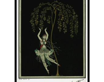 Art Deco illustration, Art deco art, Vintage art, Ballet illustrations, Georges Barbier