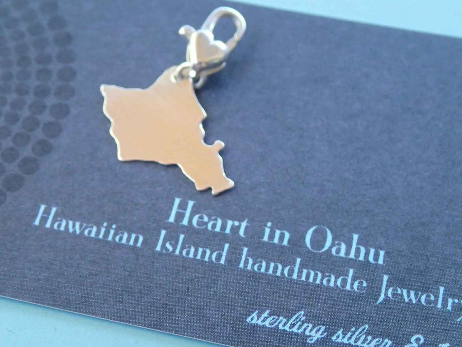 Love Oahu Sterling Charm to add to your charm bracelet by