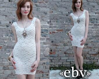 Vintage 80s Sheer Lace Bandage Mini Dress S M Fitted Dress Bandage Dress Bodycon Dress Lace Dress Sheer Dress Club Dress Party Dress