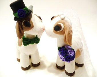 Goat Wedding Cake Topper - Choose Your Colors