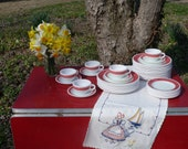 Pyrex Red Laurel Dinnerware - Special Order
