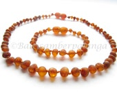 Raw Unpolished Baltic Amber Baby Teething Necklace and Bracelet/Anklet
