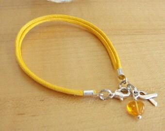Gold Awareness Bracelet (Cotton) - COPD, Pediatric Cancer, Rhabdomyosarcoma, Neuroblastoma & More