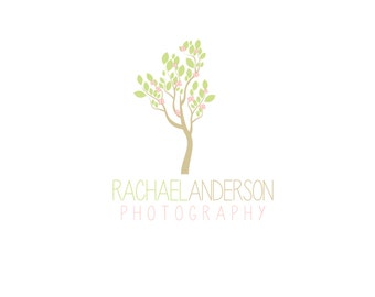 Custom Logo Designs  Premade Logo and Watermark for Photographers and Small Crafty Boutiques Cherry Blossom Tree