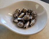 Large Hole Ornate Silver Focal Beads - Acrylic