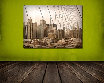 Through the Wires, Cityscape, New York NYC, Urban Landscape 8x12 10x15 12x18 16x24 Fine Art Photograph