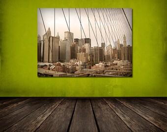 Through the Wires, Cityscape, New York NYC, Urban Landscape 8x12 10x15 12x18 16x24 Fine Art Photograph