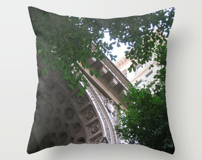 Springtime Sofa Pillow, Architectural Accent Pillow, Urban Throw Pillow Cover, 18x18 22x22 Decorative Pillow Cushion