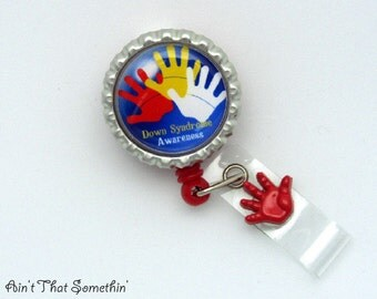 Down Syndrome Awareness Retractable Badge Reel - Awareness Badge Clips - Down Syndrome Awareness -